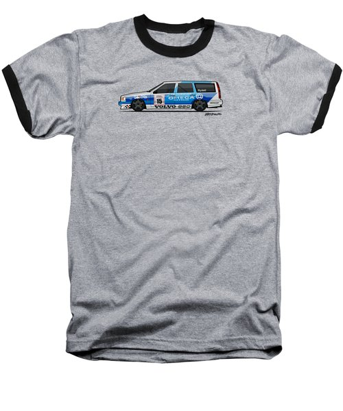 Volvo 850r Twr British Touring Car Championship  Baseball T-Shirt by Monkey Crisis On Mars