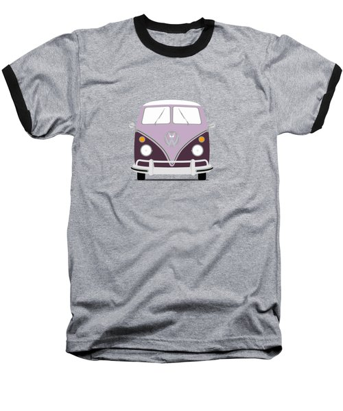 Vw Bus Purple Baseball T-Shirt by Mark Rogan