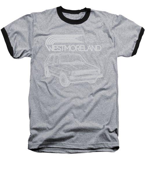 Vw Rabbit - Westmoreland Theme - Gray Baseball T-Shirt by Ed Jackson