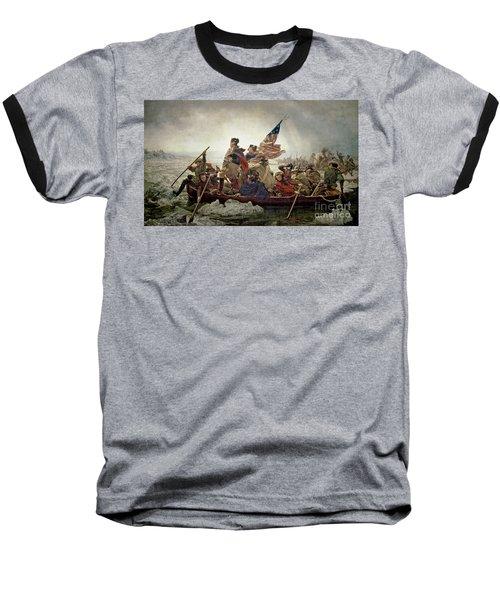 Washington Crossing The Delaware River Baseball T-Shirt by Emanuel Gottlieb Leutze