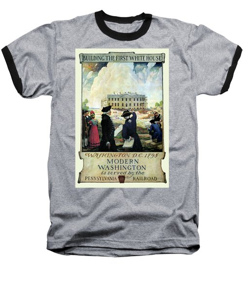 Washington D C Vintage Travel 1932 Baseball T-Shirt by Daniel Hagerman