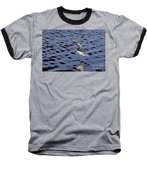 Water Alighting Baseball T-Shirt by Michal Boubin