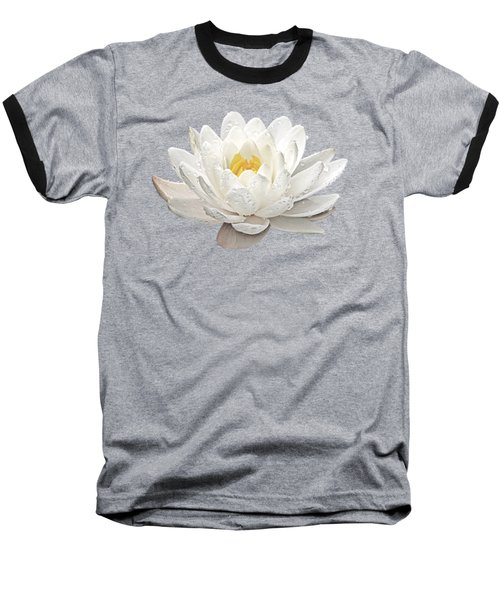 Water Lily Whirlpool Baseball T-Shirt by Gill Billington