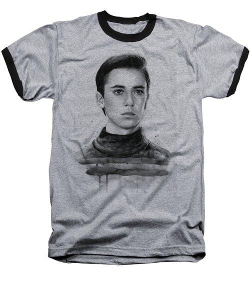 Wesley Crusher Star Trek Fan Art Baseball T-Shirt by Olga Shvartsur