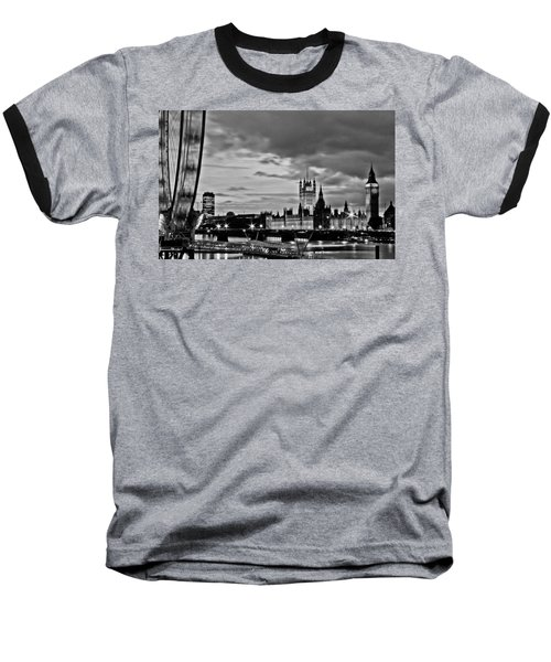 Westminster Black And White Baseball T-Shirt by Dawn OConnor