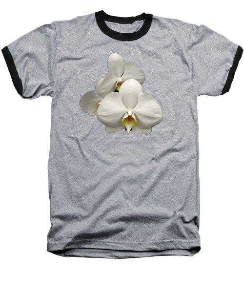 White Orchids Baseball T-Shirt by Rose Santuci-Sofranko