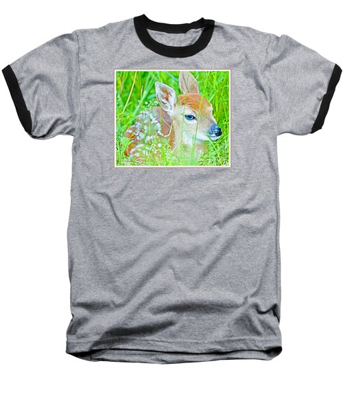 Baseball T-Shirt featuring the photograph Whitetailed Deer Fawn by A Gurmankin