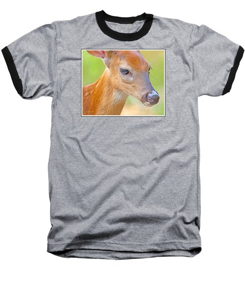 Baseball T-Shirt featuring the photograph Whitetailed Deer Fawn Portrait by A Gurmankin