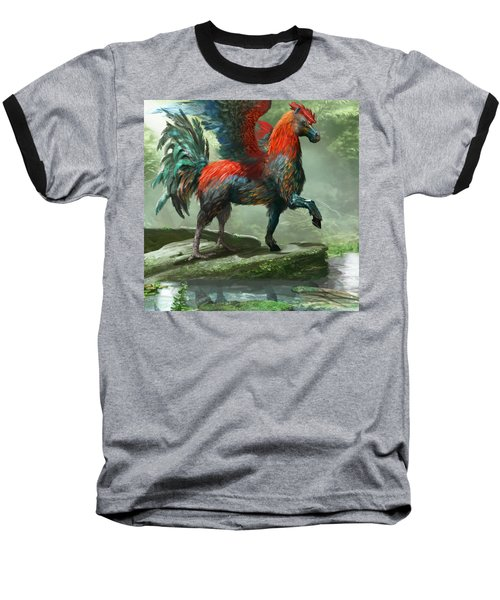 Wild Hippalektryon Baseball T-Shirt by Ryan Barger