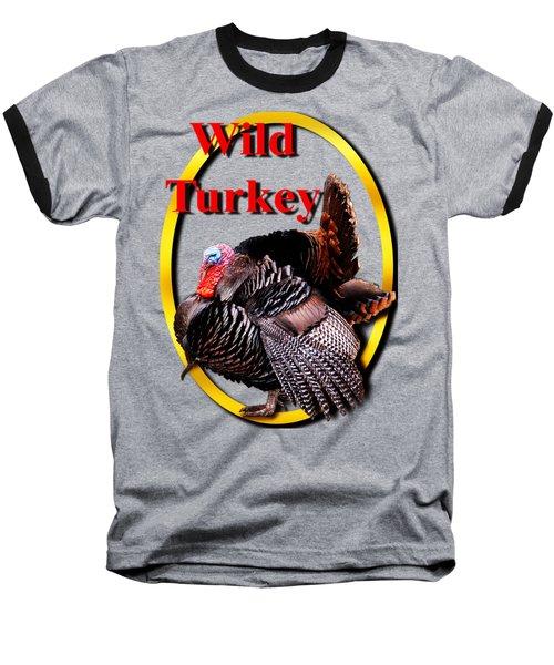 Wild Turkey Baseball T-Shirt by John Furlotte