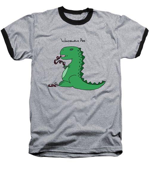 Winosaurus Rex Baseball T-Shirt by Tamera Dion