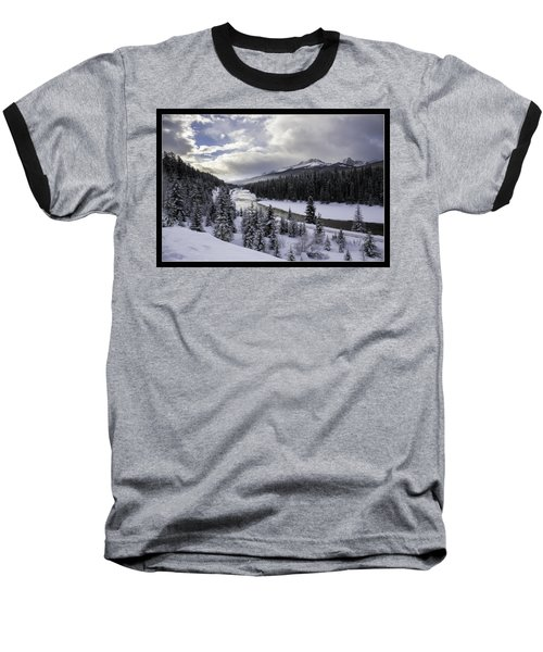 Winter In The Rockies Baseball T-Shirt by J and j Imagery