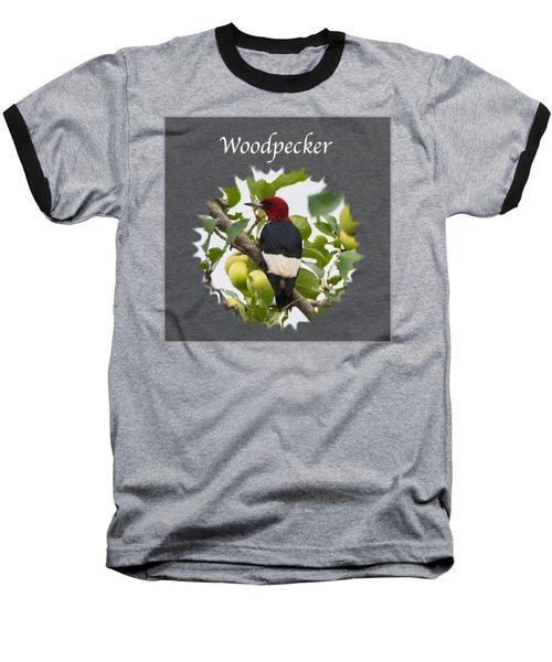 Woodpecker Baseball T-Shirt by Jan M Holden