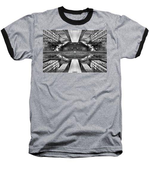 Worlds End  Baseball T-Shirt by Az Jackson