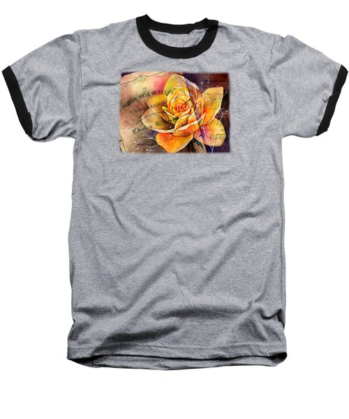 Yellow Rose Of Texas Baseball T-Shirt by Hailey E Herrera
