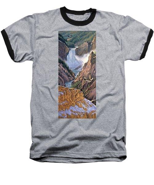 Yellowstone Canyon-osprey Baseball T-Shirt by Paul Krapf