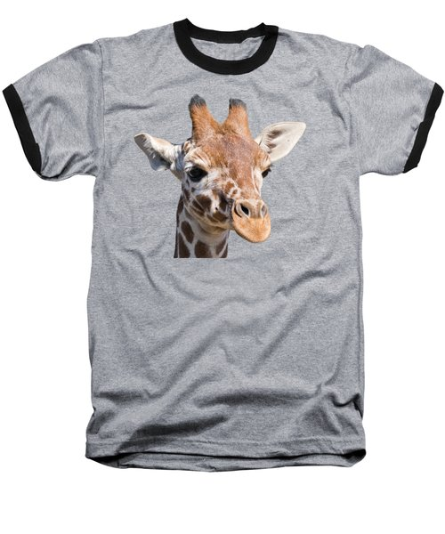 Young Giraffe  Baseball T-Shirt by Scott Carruthers