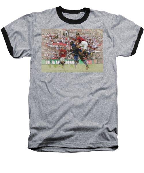 Zlatan Ibrahimovic Header Baseball T-Shirt by Don Kuing