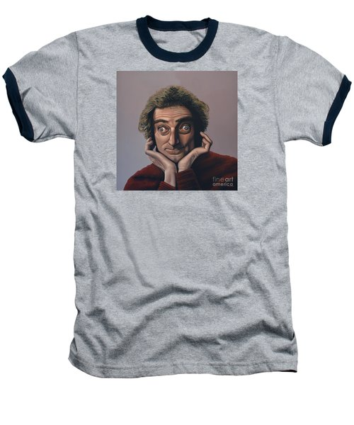 Marty Feldman Baseball T-Shirt by Paul Meijering
