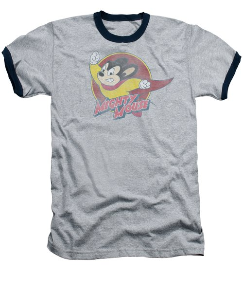 Mighty Mouse - Mighty Circle Baseball T-Shirt by Brand A