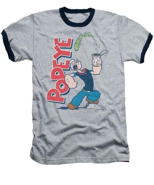 Popeye - Spinach Power Baseball T-Shirt by Brand A