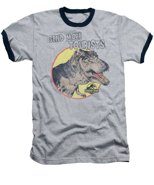 Jurassic Park - More Tourists Baseball T-Shirt by Brand A