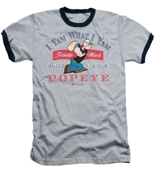 Popeye - I Yam What I Yam Baseball T-Shirt by Brand A