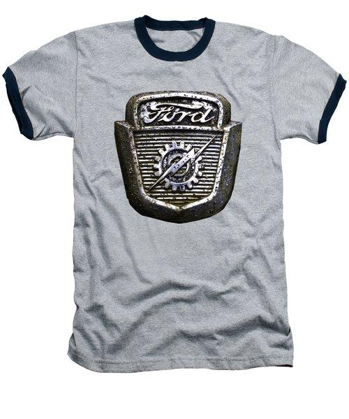 Ford Emblem Baseball T-Shirt by Debra and Dave Vanderlaan