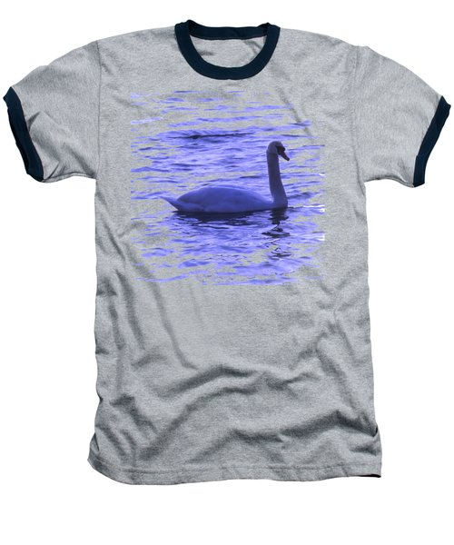 Swan Lake Baseball T-Shirt by Vesna Martinjak