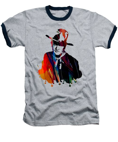 John Wayne Collection Baseball T-Shirt by Marvin Blaine