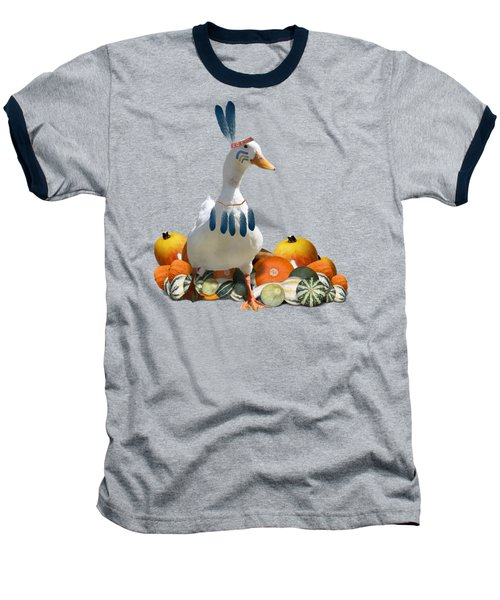 Indian Duck Baseball T-Shirt by Gravityx9 Designs