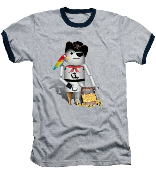 Robo-x9 The Pirate Baseball T-Shirt by Gravityx9  Designs