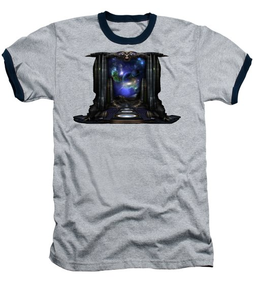 89-123-a9p2 Arsairian 7 Reporting Fractal Composition Baseball T-Shirt by Xzendor7