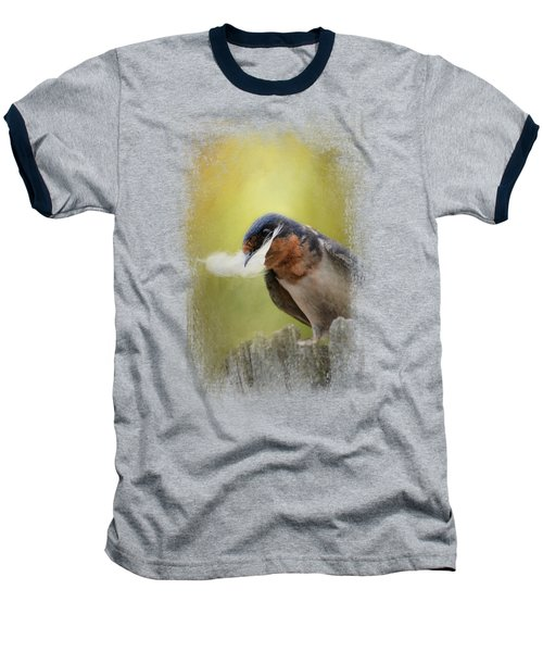 A Feather For Her Nest Baseball T-Shirt by Jai Johnson