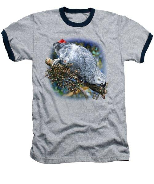 African Grey Parrot A1 Baseball T-Shirt by Owen Bell