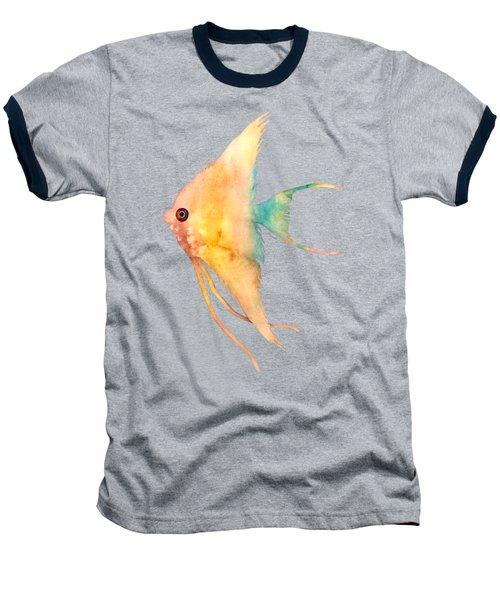 Angelfish II - Solid Background Baseball T-Shirt by Hailey E Herrera