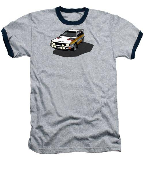 Audi Sport Quattro Ur-quattro Rally Poster Baseball T-Shirt by Monkey Crisis On Mars