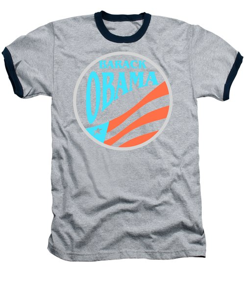 Barack Obama - Tshirt Design Baseball T-Shirt by Art America Online Gallery