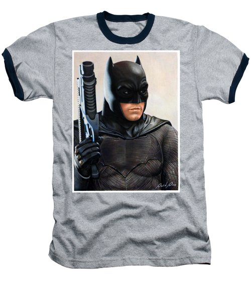 Batman 2 Baseball T-Shirt by David Dias