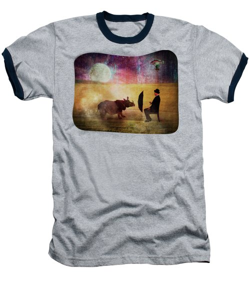 By The Light Of The Moon Baseball T-Shirt by Terry Fleckney