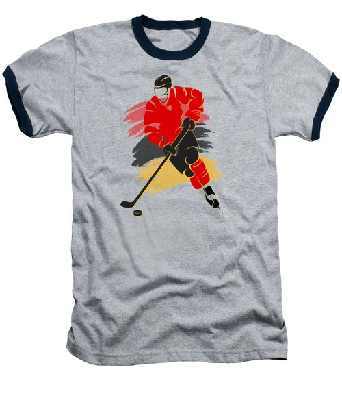 Calgary Flames Player Shirt Baseball T-Shirt by Joe Hamilton