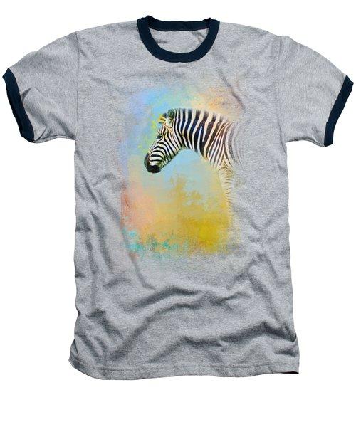 Colorful Expressions Zebra Baseball T-Shirt by Jai Johnson