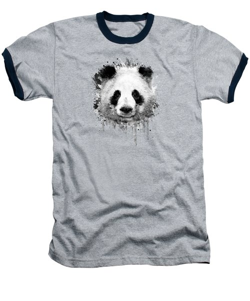 Cool Abstract Graffiti Watercolor Panda Portrait In Black And White  Baseball T-Shirt by Philipp Rietz