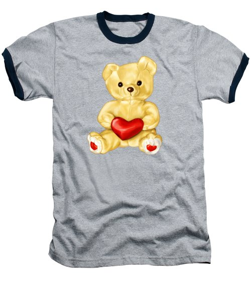 Cute Teddy Bear Hypnotist Baseball T-Shirt by Boriana Giormova