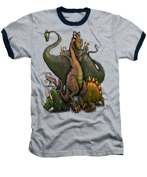 Dinosaurs Baseball T-Shirt by Kevin Middleton