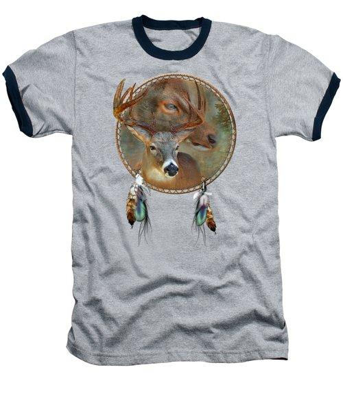Dream Catcher - Spirit Of The Deer Baseball T-Shirt by Carol Cavalaris