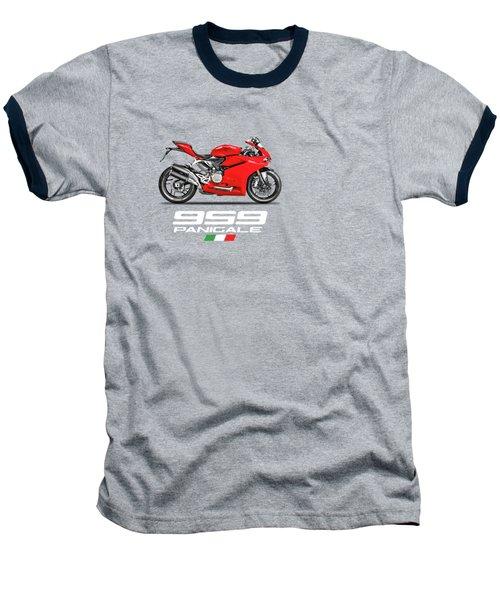 Ducati Panigale 959 Baseball T-Shirt by Mark Rogan