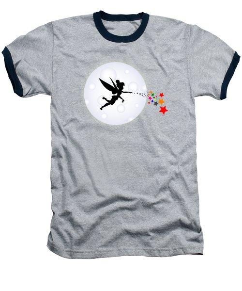 Elf Starry Night Baseball T-Shirt by Koko Priyanto