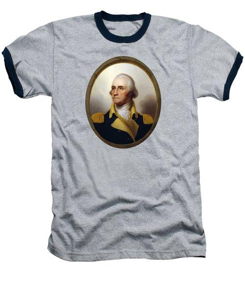 General Washington - Porthole Portrait  Baseball T-Shirt by War Is Hell Store