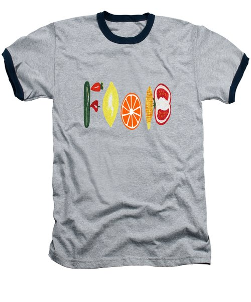 Good Eats Baseball T-Shirt by Kathleen Sartoris